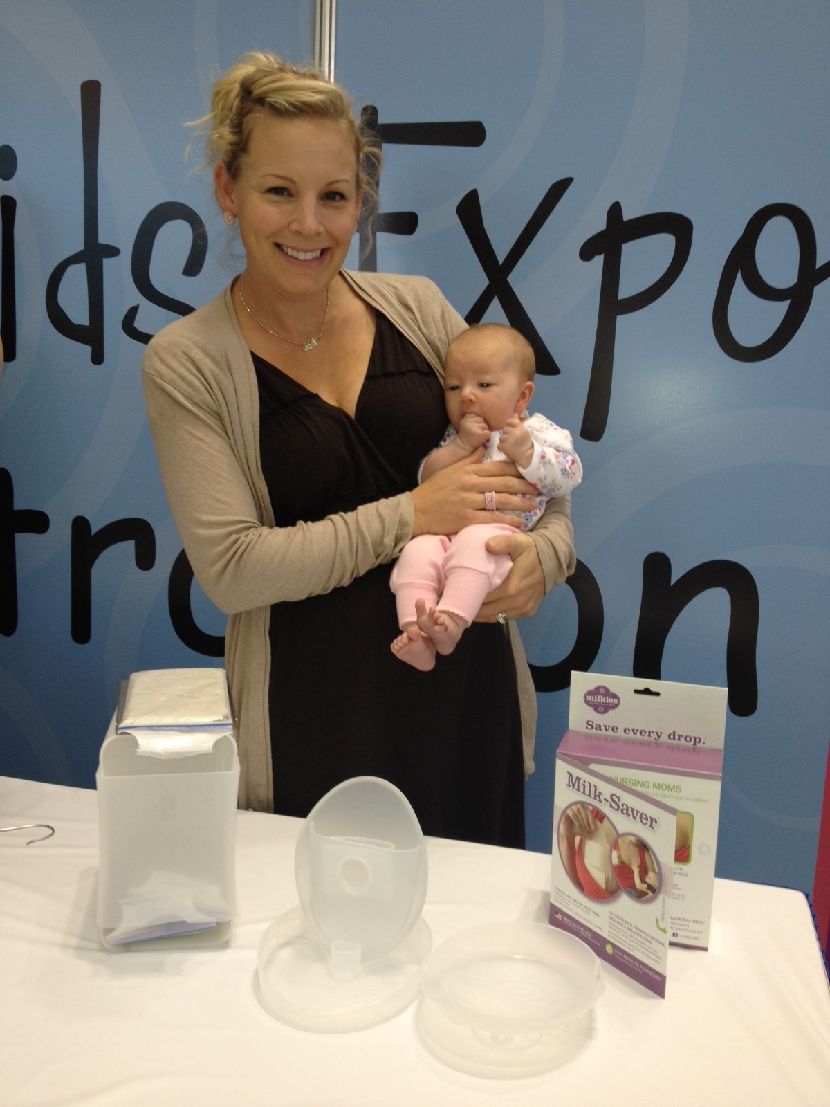 L and I at a baby products show 2012