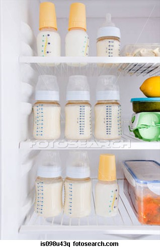 breast milk in fridge
