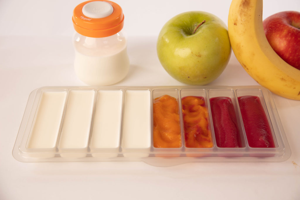 Milk Trays with food demo